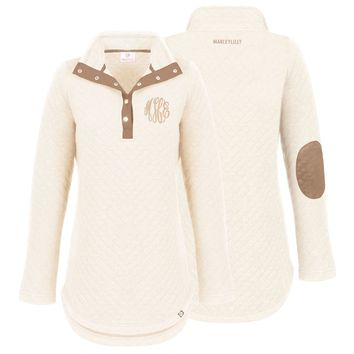 Monogrammed Quilted Pullover Tunic | Marleylilly