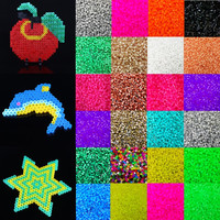 Fashion 1000pcs Candy Color 5mm Plastic Hama Perler Beads For Educate Kids Child Gift  Handmade DIY Toys Free Shipping