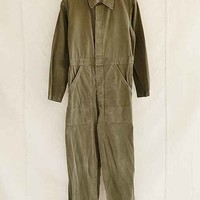 Vintage Army Green Jumpsuit