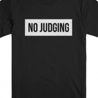 No Judging Tee (Black)