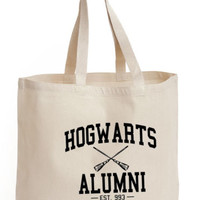 Hogwarts alumni Cotton Tote shopping ECO canvas picnic/school / gift Bag potter | eBay