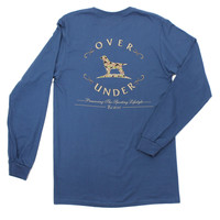 Old School Camo Logo Long Sleeve Tee in Navy by Over Under Clothing