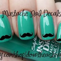 Mustache Nail Decals - Set of 100