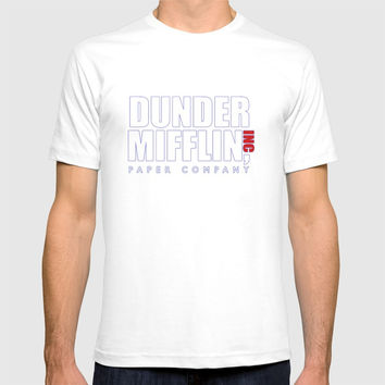 Dunder Mifflin The Office Logo,white T-shirt by agoesdesign