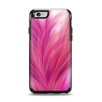 The Abstract Pink Flowing Feather Apple iPhone 6 Otterbox Symmetry Case Skin Set