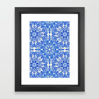 Society6 Cobalt Blue China Whi Framed Print