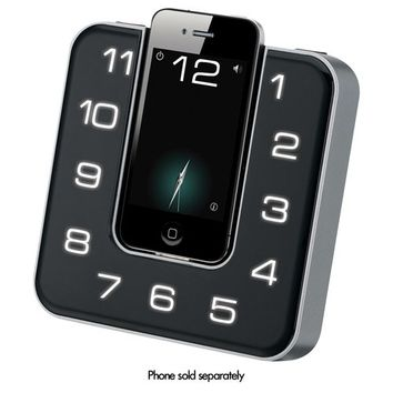 iLive - Clock Radio - Stereo - Apple Dock Interface - White