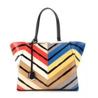 fendi - 3jours snakeskin leather tote