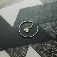 Spiral Septum Ring - sterling silver  - unique piercing ring - by snakesninja - FREE US shipping
