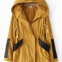 Autumn & Winter Long Sections Hooded Loose Leisure Windbreaker,Cheap in Wendybox.com
