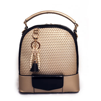 Multifunctional Women Leather Backpack Tassel