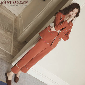 Office uniform designs women ladies blazers business suit female women pant suit blazer female cashmere suit  AA2053