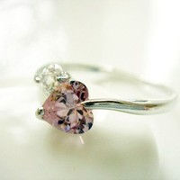 Sweet Heart Cubic Zirconia Ring R03