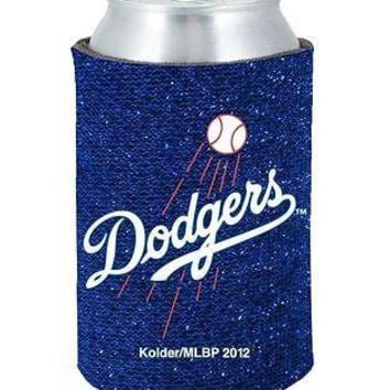 MLB Los Angles LA Dodgers Kaddy Can Glitter Holder Koozie Bling Coozie Baseball