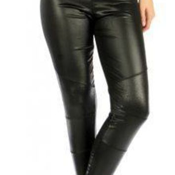 Swirl Panel Black Liquid Leggings fits sizes S/M