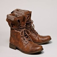 American Eagle Lace-Up Cognac Boot
