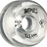 Bones SPF Clears 56mm Clear Skate Wheels