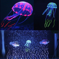 Multi Colors Glowing Effect Artificial Silicone Fish Tank Aquarium Decorations [8045590215]