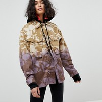 Reclaimed Vintage Revived Military Jacket In Dip Dye at asos.com