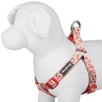 Blueberry Pet 5/8-Inch Spring Scent Inspired Floral Rose No Pull Step-In Harness for Dog, Small, Baby Pink