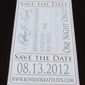 Wedding Save the Date - Event Ticket - SAMPLE -