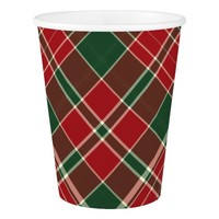 Christmas Plaid 12-PAPER CUPS