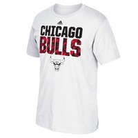 Mens Chicago Bulls adidas White Immortal Team T-Shirt