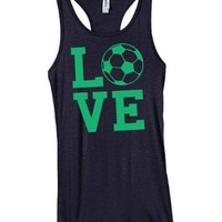 Activewear Apparel Women's Love Soccer Racerback Juniors Tank
