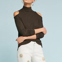 Michael Stars Open-Shoulder Turtleneck