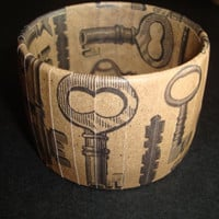 Paper wrapped bangle with Skeleton Key print