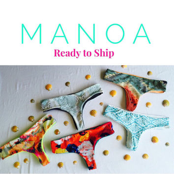 MANOA: Ready To Ship REVERSIBLE Brazilian Bikini Bottoms