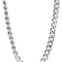 Men's Stainless Steel Classic Curb Chain Necklace, 22""