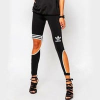 Adidas Women Fashion Stretch Sport Gym Pants Trousers Sweatpants