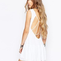Glamorous | Glamorous Festival Dress With Cage Back Detail at ASOS