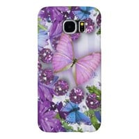 Purple Butterfly Samsung Galaxy S6 Cases