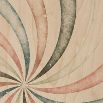 Abstract Artwork Colorful Swirl - Plywood Wood Print Poster Wall Art