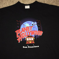 "Sale!! Vintage PLANET HOLLYWOOD ""San Francisco"" tee shirt made in USA"