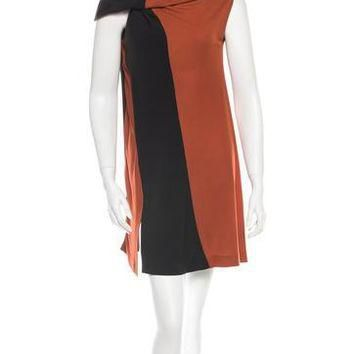 balenciaga colorblock dress 2
