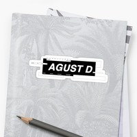 'AGUST D' Sticker by busanie