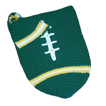 Green Bay Packers Inspired Football Baby Cocoon & Hat (Newborn to 3 months)
