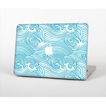 The Abstract Blue & White Waves for the Apple MacBook Pro Retina 13""