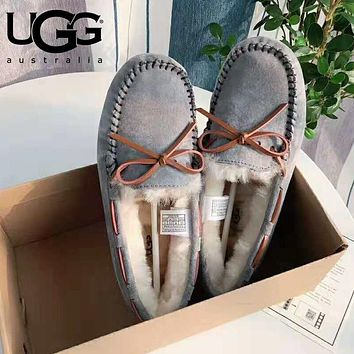 """UGG"" Winter Classic Stylish Women Wool Flat Shoes Grey"