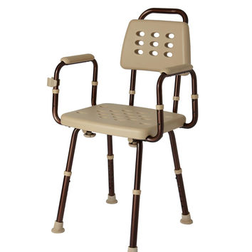 ELEMENTS SHOWER CHAIR WITH BACK,MICR