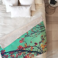 Shannon Clark Summer Bloom Fleece Throw Blanket