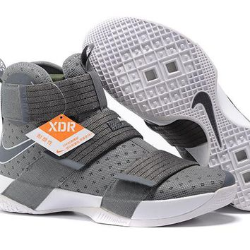 spbest Nike Men's Lebron Soldier 10 Basketball Shoes Grey 40-46