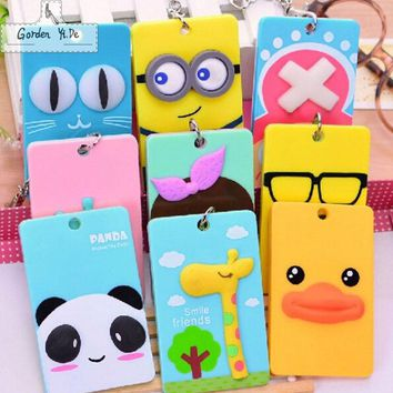 MIWIND Plastic Cards Cartoon Despicable Me Minions Holder Drive License Fashionprotective Sleeve Passport Cover Key Fob Casual