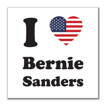 Election I Heart Bernie Sanders 4x4 Square Sticker