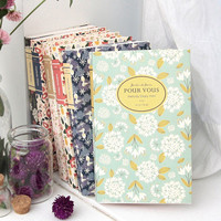 2015 Wanna This Pour vous flower melody undated small diary scheduler
