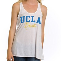 UCLA Bruins Women's Arch Over Bruins Tank - White