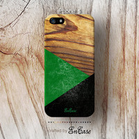3D-sublimated,Mobile accesories, iPhone 4 case, iPhone 4S case, iPhone 5 case, Geometric Green Wood.